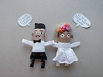 Darčeky pre svadobčanov - Nevesta + Ženích - 11367240_