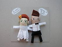 Darčeky pre svadobčanov - Nevesta + Ženích - 11367366_