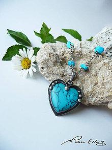 """Náhrdelníky - Cínový šperk """"Modré z neba"""" - 11367420_"""