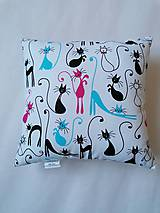 Textil - Vankúšik - mini - mačky - 11368681_