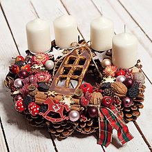 Dekorácie - Adventný veniec ...doma na vianoce... - 11367288_