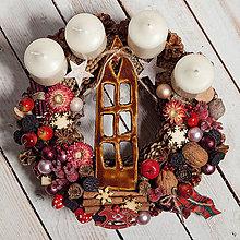 Dekorácie - Adventný veniec ...doma na vianoce... - 11367289_