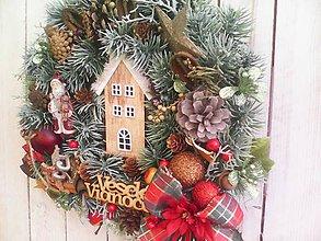 Dekorácie - Vianočný veniec na dvere ...čarovné vianoce ... ... - 11367341_