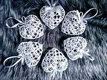 Dekorácie - Vianočné ozdoby - srdiečka - 11369240_