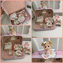 Hračky - Jemný kvetinový ňuňu kufrík - 11368646_