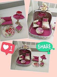 Hračky - Malý ňuňu kufrík s kvetikami - 11368913_