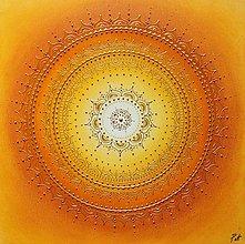 Obrazy - SLNEČNÁ MANDALKA - kvet šťastia 50 x 50 - 11368842_