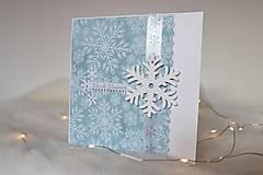 Papiernictvo - Vianočná pohľadnica - vianočná pošta (Drevená vločka) - 11369528_