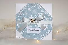 Papiernictvo - Vianočná pohľadnica - vianočná pošta (Mašličková vločka) - 11369529_