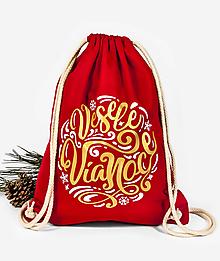 Batohy - Vianočný vak Veselé Vianoce - 11369085_
