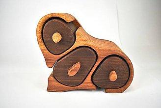 Krabičky - Šperkovnica - dub, jelša (Bandsaw box) - 11366051_