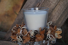 Svietidlá a sviečky - Prírodný svietnik - 11368364_