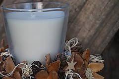 Svietidlá a sviečky - Prírodný svietnik - 11368368_