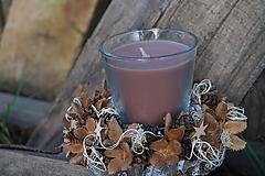 Svietidlá a sviečky - Prírodný svietnik - 11368378_