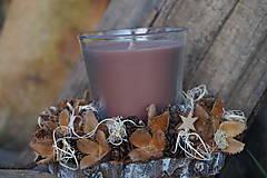 Svietidlá a sviečky - Prírodný svietnik - 11368383_