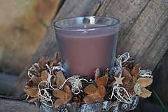 Svietidlá a sviečky - Prírodný svietnik - 11368386_