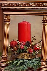 Svietnik červeno - zlatý