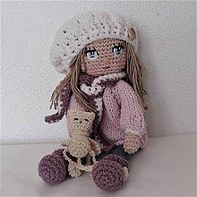 Bábiky - Bábika s mačičkou - 11367786_