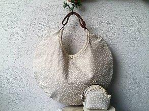 """Kabelky - Sada taška a malá peňaženka """"Béžová láska"""" - 11367560_"""
