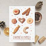 Papiernictvo - set vianočných pohľadníc - pohodové Vianoce - 11367056_