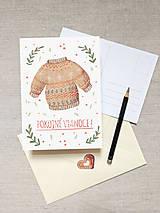 Papiernictvo - set vianočných pohľadníc - pohodové Vianoce - 11367063_
