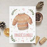 - Vianočná pohľadnica - Pokojné Vianoce - 11367115_
