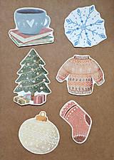Papiernictvo - Vianočná sada nálepiek - 11367298_