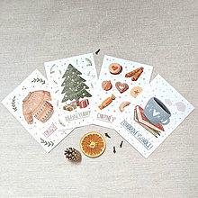 Papiernictvo - set vianočných pohľadníc - pohodové Vianoce - 11367048_