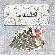 Papiernictvo - Vianočná sada nálepiek - 11367193_
