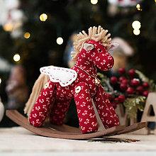 Bábiky - Vianočný textilný koník - 11369178_