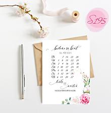 Papiernictvo - svadobné oznámenie S195 - 11368912_