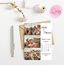 Papiernictvo - svadobné oznámenie S196 - 11368921_