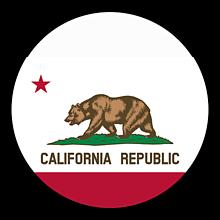 Odznaky/Brošne - California vlajka - 11368353_