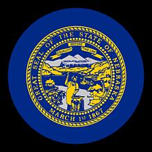 Odznaky/Brošne - Nebraska vlajka - 11368382_