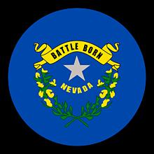 Odznaky/Brošne - Nevada vlajka - 11368384_