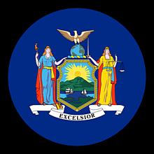 Odznaky/Brošne - New York vlajka - 11368393_