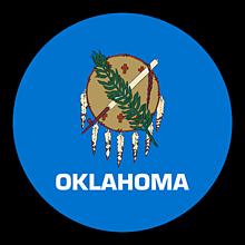 Odznaky/Brošne - Oklahoma vlajka - 11368396_
