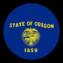 Odznaky/Brošne - Oregon vlajka - 11368400_