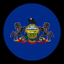 Odznaky/Brošne - Pennsylvania vlajka - 11368401_