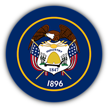 Odznaky/Brošne - Utah vlajka - 11368411_