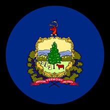 Odznaky/Brošne - Vermont vlajka - 11368412_