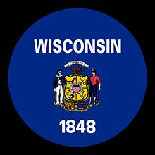Odznaky/Brošne - Wisconsin vlajka - 11368415_