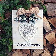 """Tabuľky - Vianočná tabuľka """"Veselé Vianoce"""" - 11366226_"""
