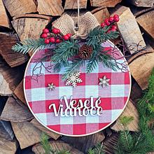 """Dekorácie - Vianočný veniec """"Veselé Vianoce"""" - 11366255_"""
