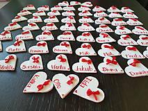 Darčeky pre svadobčanov - Menovky na svadbu - 11366113_