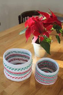 Dekorácie - Sada vianočných košíkov - 11369224_
