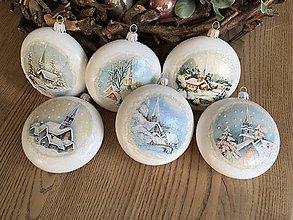 Dekorácie - Vianočná ozdoba - medailón dedinka - 11366208_