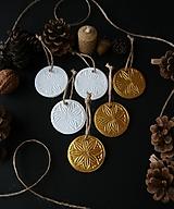 - Vianočné biele a zlaté zimné kvety - 11372958_