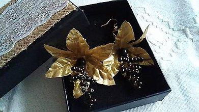 Náušnice - Náušnice zlaté zvončeky. - 11372887_