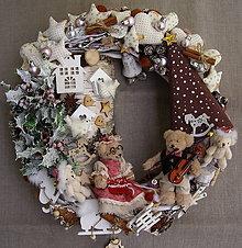 Dekorácie - vianočná pohoda ... venček - 11371844_